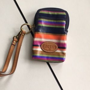Fossil cell phone/card holder